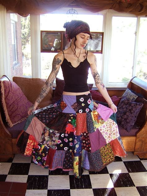 How To Make A Patchwork Skirt - patchwork tiered spin skirt try handmade