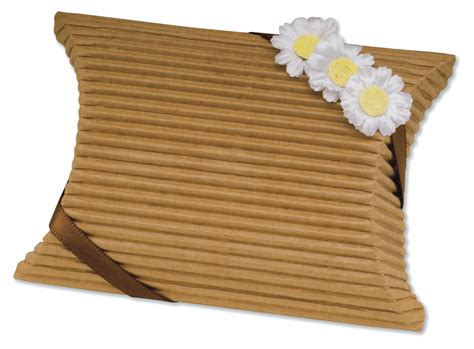 Pillow Boxes Uk by Brown Corrugated Pillow Wedding Favour Box Diy Favour