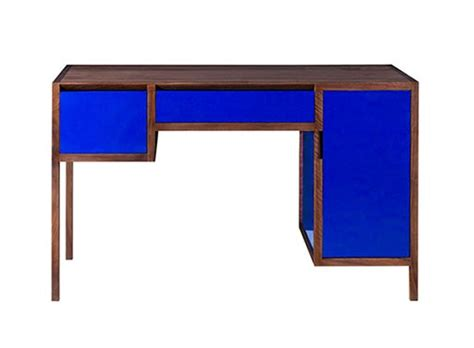 Cobalt Blue Lacquer Desk Desk Work Better Living Blue Desk