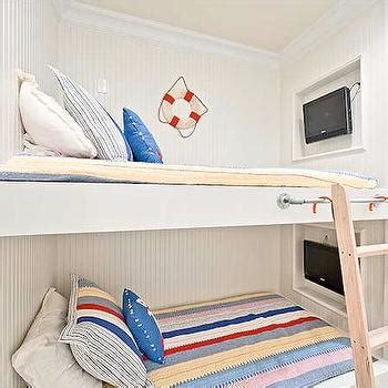 built in bunk beds cottage boy s room hickman design bunk bed niche design decor photos pictures ideas