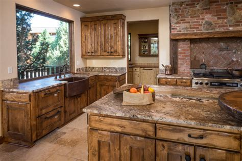 Western Kitchen Design Water Tower Inspired Home Kitchen With Butlers Pantry Rustic Kitchen Other By Western