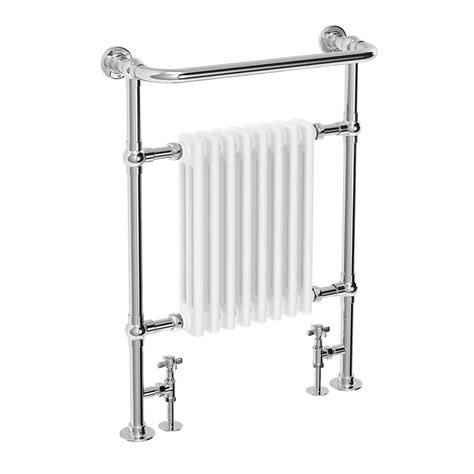 traditional heated towel rails for bathrooms traditional savoy heated towel rail chrome at victorian plumbing uk