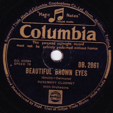 rosemary clooney beautiful brown eyes rosemary clooney beautiful brown eyes shellac at discogs