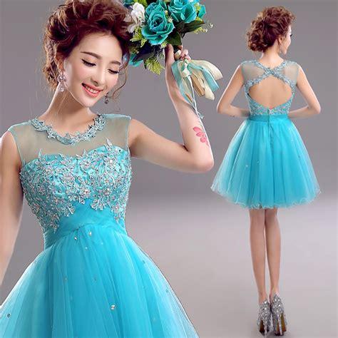 Gaun Pesta 66 blue prom dress prom dress junior prom dress open back prom dress backless prom dress