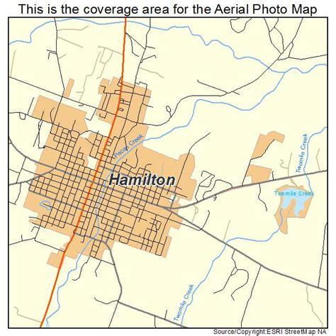 hamilton texas map aerial photography map of hamilton tx texas