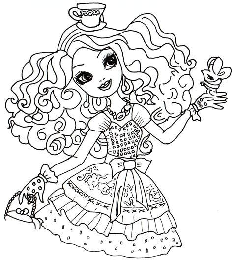imagenes para hi dibujos para pintar de madeline hatter