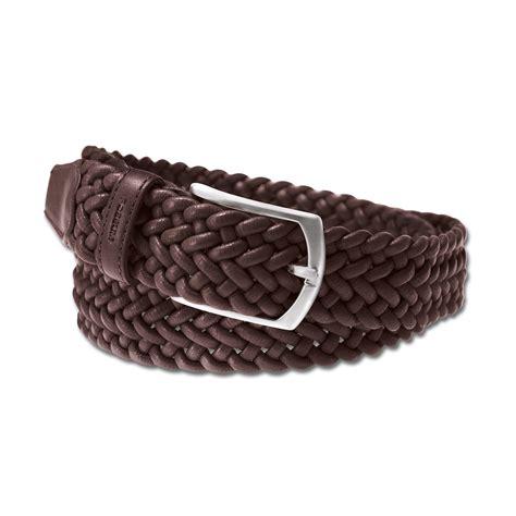 buy elasticated woven leather belt