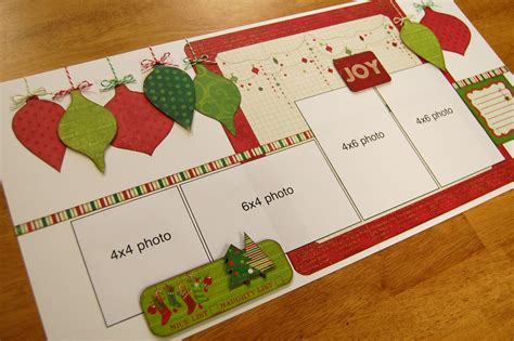 christmas html layout scrapbook generation saver scrapbooking layouts for december