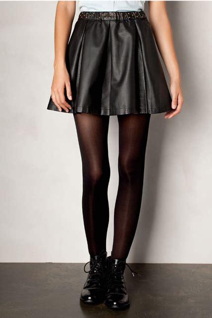 faldas de cuero con vuelo culjanter