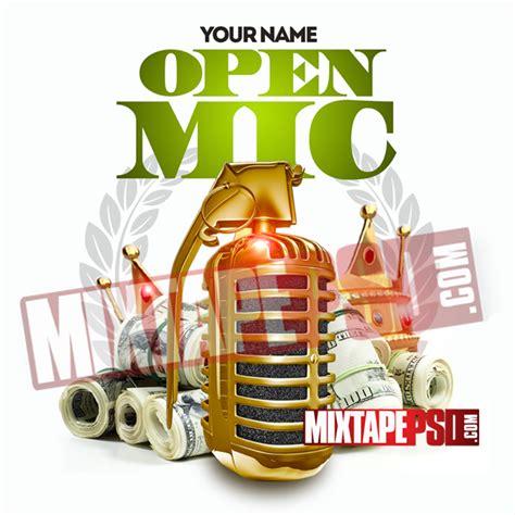 Mixtape Psd Template Open Mic Mixtapepsd Com Mixtape Psd Templates