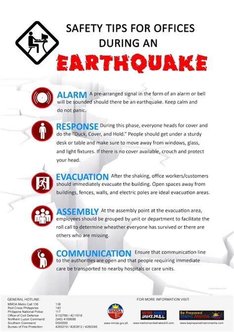 business preparation earthquake safety tips for office
