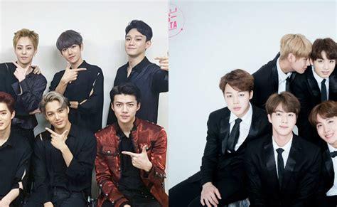 exo and bts faceoff battle exo vs bts kdramabuzz