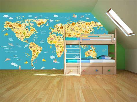 mapamundi decoracion fotomural mapamundi infantil oedim decor