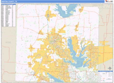 zip code map denton tx denton county tx zip code wall map basic style by marketmaps