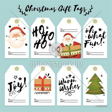 gift vector label elements webbyarts set of creative gift tags and labels with space