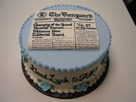 newspaper themed cake teenage cakes