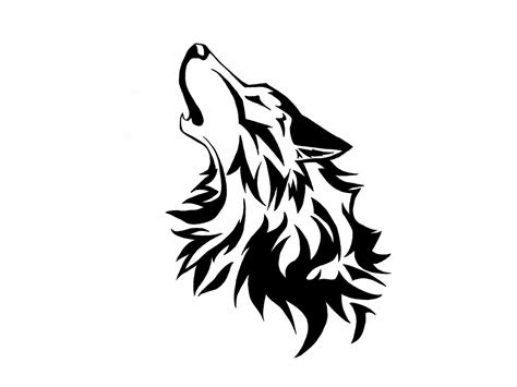 howling wolf tribal tattoo wolf is howling drawing wallpaper drawings