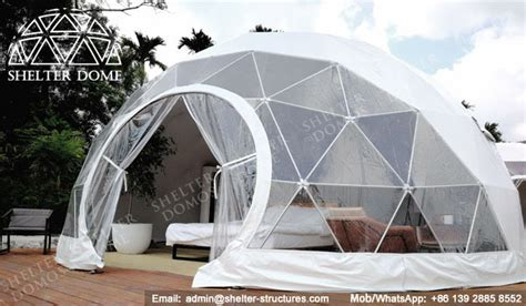 Platform Tent 7m glamping domes served as eco luxury hotel rooms