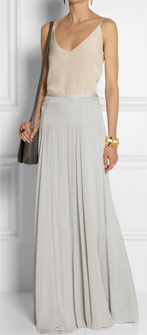 25 best ideas about grey maxi skirts on gray
