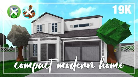 bloxburg compact modern  story home step  step