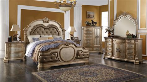 Gold Bedroom Set by Infinity Gold Traditional 5pc Bedroom Set W Options
