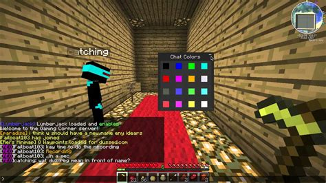 minecraft color chat color chat mod chat in a rainbow minecraft 1 1