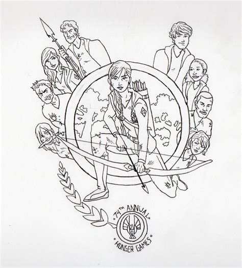 printable hunger games coloring pages 1000 images about library activities on pinterest