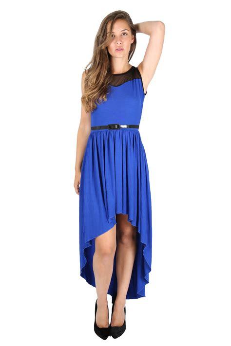 Tc49 Midi Keyhole Maxi Dress womens lace mesh insert belt keyhole back high low maxi midi dress top ebay