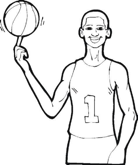 free printable coloring pages of nba players basketball coloring pages 9