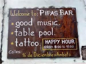 tattoo junkee happy hour ecuador quito und banos 01 09 2009 airguitar diaries