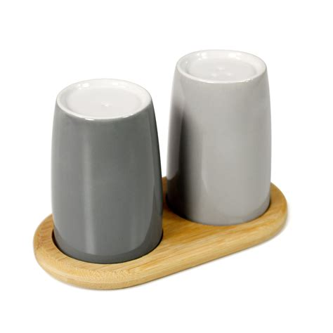 adding grey to salt and pepper emma salt and pepper shakers by stelton