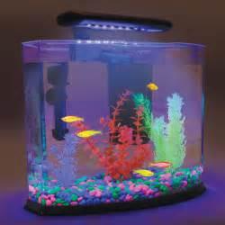 Details about 5 Gallon GLO FISH Neon Aquarium Heater Gravel Plants LED