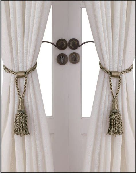 tie back curtains window treatments essential home rope tie backs set of 2 taupe home