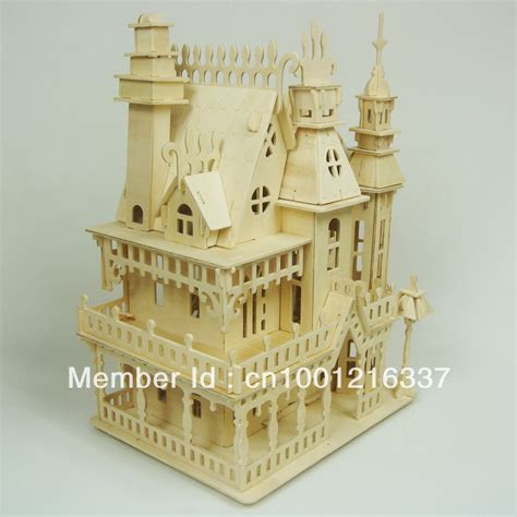 3d Wood Puzzle Store House Puzzle Kayu great x gift diy wooden mini house light dollhouse