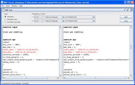 wrf online tutorial namelist input diff tool