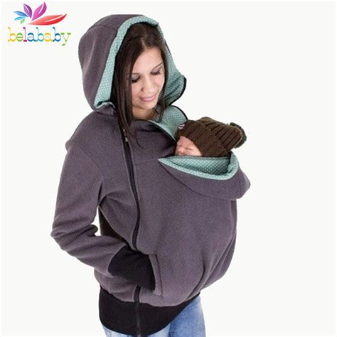 Hoodie Sweater The Beattles Clothing 2016 autumn winter maternity clothes warm fleece baby carrying coat baby carrier hoody kangaroo