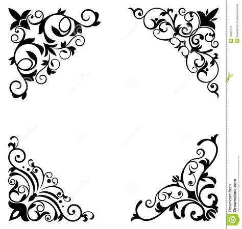 pattern vector border flower patterns and borders stock vector image 13841575