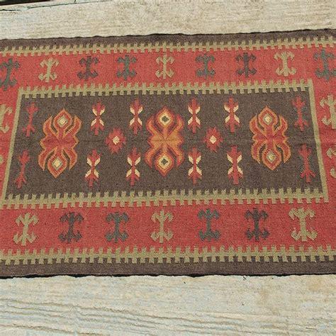 Wool Kilim Rug Wool And Jute Kilim Rug J By Hunter Jones Vintage