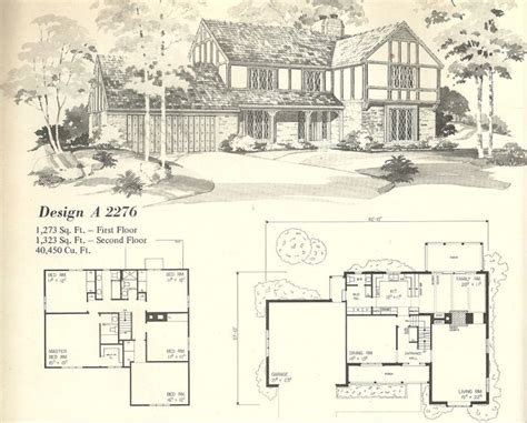 1970s house plans vintage house plans 1970s homes tudor style vintage