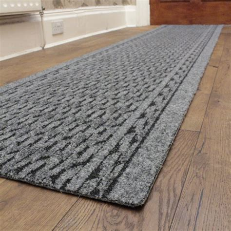 rumba grey hallway commercial barrier mat runner from