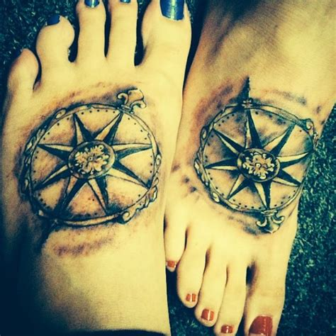 matching compass tattoos tattoo s pinterest compass