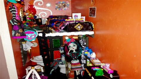 monster high doll house tours laundry closet 4th bathroom monster high doll house tour room 18 of 40 skelita bed
