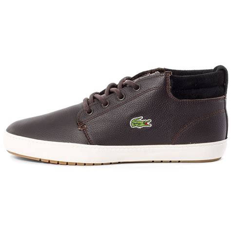 lacoste thill terra put mens ankle boots in brown