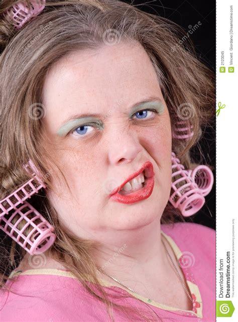 women in hair rollers woman in hair curlers stock image image of pajama night