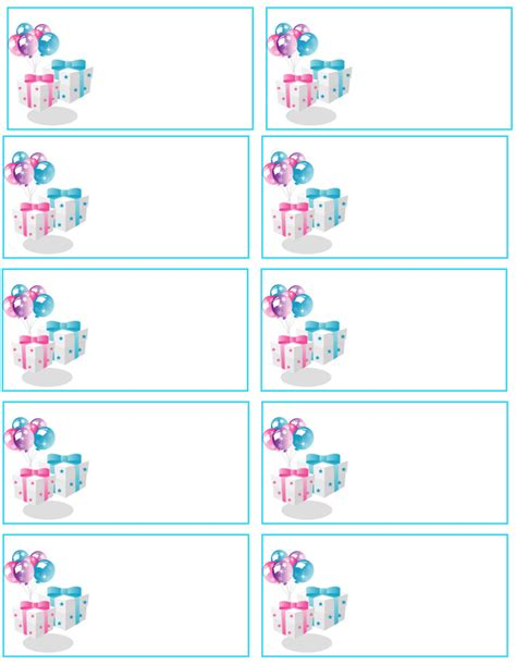 Baby Shower Labels Template – Free Owl Baby Shower Favor Tags Templates