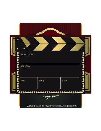 printable hollywood invitation templates how to throw a hollywood party 15 steps with pictures