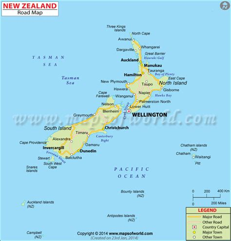us area code nz new zealand road map