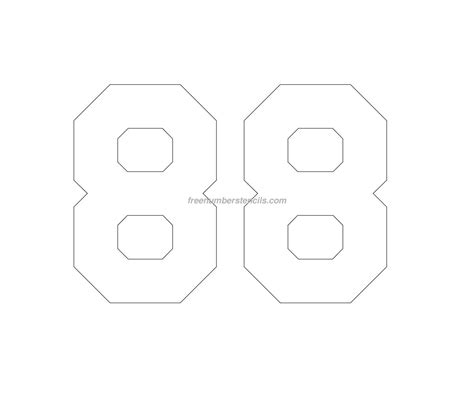 jersey printable  number stencil