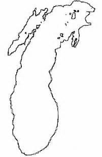 Outline Of Michigan And Great Lakes by Glerl Data Report 16