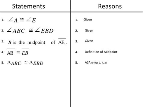 list of reasons for geometric proofs reference geometric proofs